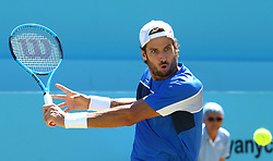 June 22, 2018 - London, United Kingdom - Feliciano Lopez (ESP) in action.during Fever-Tree Championships Quarter Final match between Feliciano Lopez (ESP) against Nick Kyrgios (AUS) at The Queen's Club, London, on 22 June 2018  (Credit Image: © Kieran Galvin/NurPhoto via ZUMA Press)