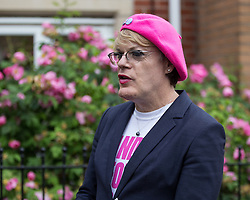 © Licensed to London News Pictures . 10/06/2016 . Manchester , UK . Comedian EDDIE IZZARD door knocking in Hulme , Manchester , in support of the Remain campaign , ahead of the UK's EU Referendum . Photo credit : Joel Goodman/LNP