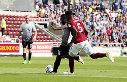 Junior Morias of Peterborough United scores to make it 2-0 - Mandatory by-line: Joe Dent/JMP - 26/08/2017 - FOOTBALL - Sixfields Stadium - Northampton, England - Northampton Town v Peterborough United - Sky Bet League One
