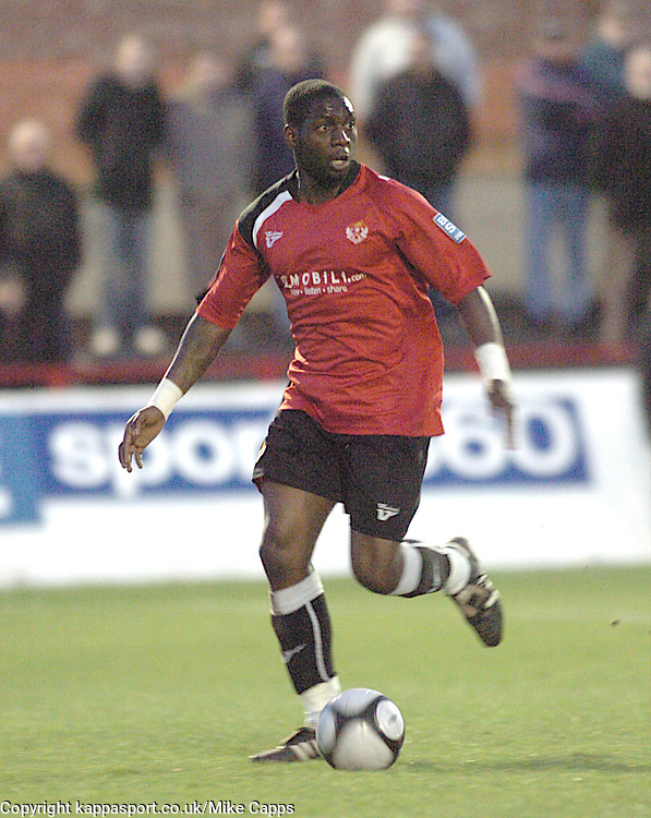 PATRICK NOUBISSIE, KETTERING TOWN, Kettering Town v Crawley Town, Blue Square Premier, (Re Arranged Game from 30/1/10), Tuesday 20th April 2010