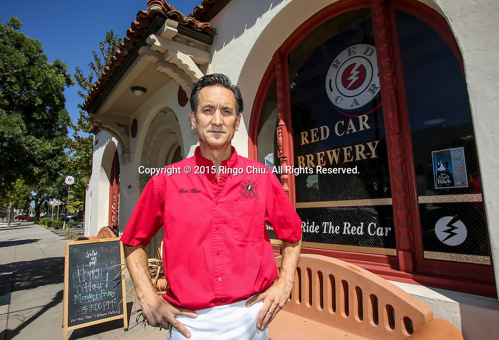 Robert Brandt, owner of Red Car Brewery and Restaurant in Torrance.<br /> <br /> (Photo by Ringo Chiu/PHOTOFORMULA.com)