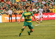 Tampa Bay Rowdies midfielder Andrew Tinari(15) receives a pass during a USL soccer game, Sunday, May 26, 2019, in St. Petersburg, Fla. The Rowdies defeated the Rangers 1-0. (Brian Villanueva/Image of Sport)