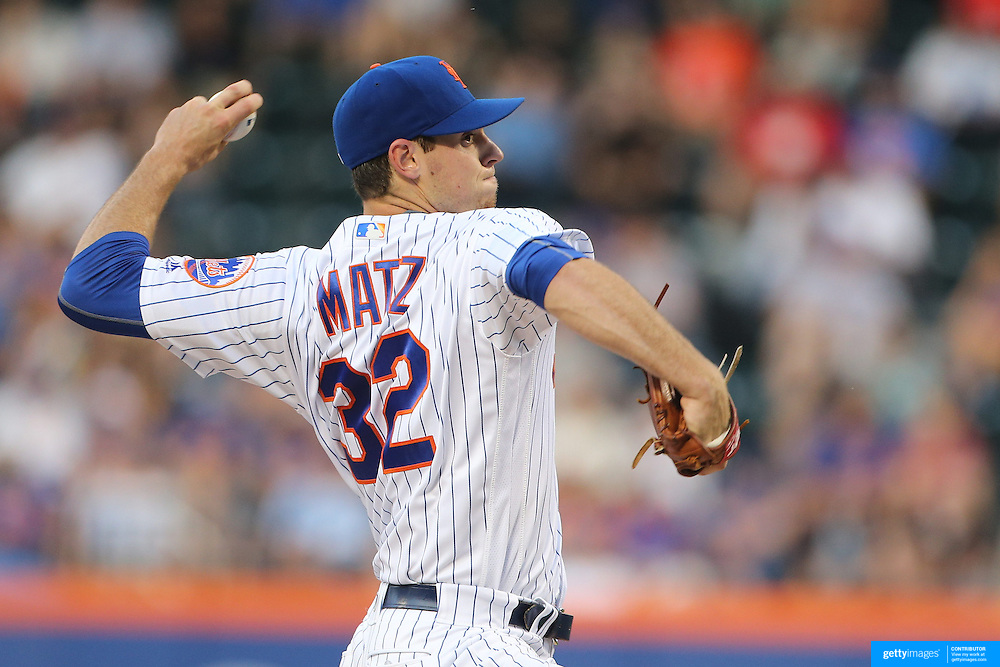 NEW YORK, NEW YORK - May 31:  Pitcher Steven Matz #32 of the New York Mets pitching during the Chicago White Sox  Vs New York Mets regular season MLB game at Citi Field on May 31, 2016 in New York City. (Photo by Tim Clayton/Corbis via Getty Images)