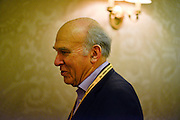 © Licensed to London News Pictures. 10/03/2013. Brighton, UK.  Dr Vincent Cable,  Liberal Democrat MP, Secretary of State for Business, Innovation and Skills at.the Liberal Democrat Spring Conference in Brighton today 10th March 2013. Photo credit : Stephen Simpson/LNP
