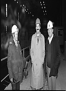 Tanaiste,Dick Spring,Visits Moneypoint..1984..23.11.1984..11.23.1984..23rd November 1984..The Tanaiste and Minister for Energy,Mr Dick Spring,visited Moneypoint Generating Station,Co Clare. He visited the site to view the progress of work there...Photograph of.Mr Dick Spring,Tanaiste and Minister For Energy,chats with workers on the site Mr Jim Nagle (L) andMr Joe Donovan bothof whom work for APC.