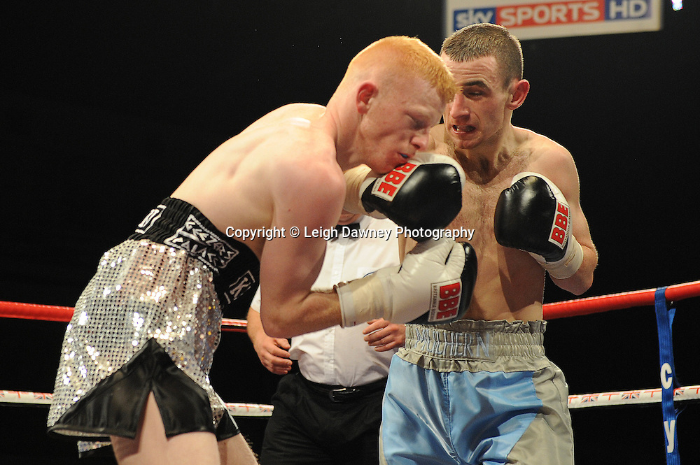 James Mulhern defeats Kevin Coglan at Coventry Skydome, Coventry, United Kingdom on 23rd April 2010. Frank Maloney Promotions.Photo credit: © Leigh Dawney