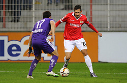 30.01.2016, Stadion An der Alten Foersterei, Berlin, GER, 1. FC Union Berlin vs SV Austria Salzburg, Testspiel, im Bild Elias Kircher (#17, SV Austria Salzburg), Steven Skrzybski (#24, 1. FC Union Berlin), // during a preperation Football Match between 1. FC Union Berlin vs SV Austria Salzburg at the Stadion An der Alten Foersterei in Berlin, Germany on 2016/01/30. EXPA Pictures © 2016, PhotoCredit: EXPA/ Eibner-Pressefoto/ Hundt<br /> <br /> *****ATTENTION - OUT of GER*****