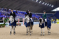 Team Mister Blue, Haelterman Sarah, Van der Plaetsen Nico, De Proft Anouk<br /> Vlaanderens Kerstjumping - Memorial Eric Wauters - Mechelen 2018<br /> © Hippo Foto - Martin Tandt<br /> 27/12/2018