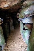 West Kennet neolithic long barrow chambered tomb , Wiltshire, England, UK