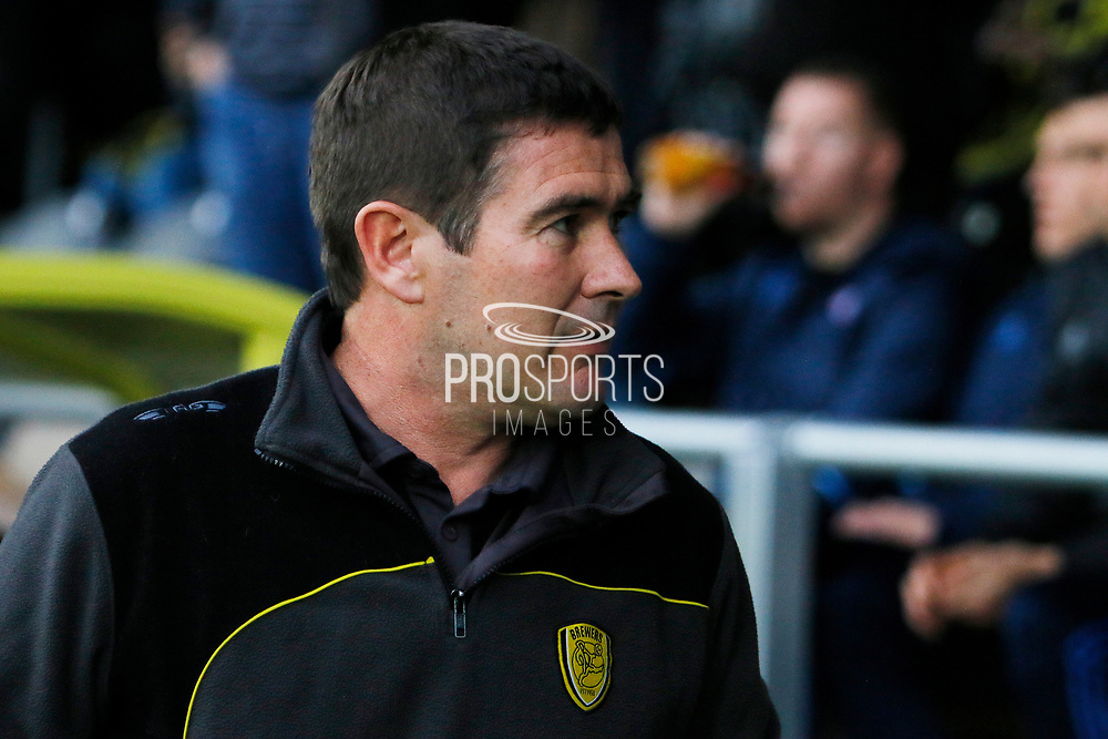 Burton Albion manager Nigel Clough during the EFL Sky Bet Championship match between Burton Albion and Ipswich Town at the Pirelli Stadium, Burton upon Trent, England on 14 April 2017. Photo by Richard Holmes.