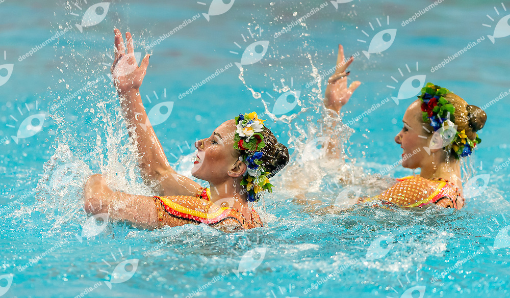 Lolita Ananasova , Anna Voloshyna Ukraina<br /> 8th FINA Synchronised Swimming World Trophy <br /> Day01 Nov. 29 -  Thematic duet<br /> Mexico City 29 November - 1 December<br /> Photo G.Scala/Deepbluemedia.eu