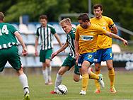 FODBOLD: Nicklas Hansen (Ølstykke FC) og Nikolaj Jensen (Ølstykke FC) under kampen i Serie 1 mellem Ølstykke FC og Brede IF den 3. juni 2017 på Ølstykke Stadion. Foto: Claus Birch