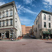 Look both ways before crossing the street. A multiple shot panorama of Main Street.