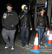 13.JULY.2009 - LONDON<br /> <br /> AMERICAN ACTOR LEONARDO DICAPRIO WALKING THROUGH KNIGHTSBRIDGE AT 1.30AM WITH FRIENDS INCLUDING MY NAME IS EARL ACTOR ETHAN SUPLEE AND WHEN HE SAW THE FLASH OF THE CAMERA HE QUICKLY TRIED TO COVER HIS FACE AND JUMPED IN A BLACK CAB AND WENT TO SOHO WHERE HE GOT SPOTTED AGAIN WALKING DOWN THE STREET AND QUICKLY COVERED UP AGAIN BEFORE SAYING TO THE PHOTOGRAPHER THANKS FOR RUINING MY NIGHT AND GOT IN TO ANOTHER TAXI.<br /> <br /> BYLINE: EDBIMAGEARCHIVE.COM<br /> <br /> *THIS IMAGE IS STRICTLY FOR UK NEWSPAPERS &amp; MAGAZINES ONLY*<br /> *FOR WORLDWIDE SALES &amp; WEB USE PLEASE CONTACT EDBIMAGEARCHIVE - 0208 954 5968*