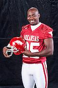 Arkansas Razorback photo shoot for the Football Media Guide cover of Darren McFadden, Felix Jones, Peyton Hillis and Marcus Monk...©Wesley Hitt.All Rights Reserved.501-258-0920.