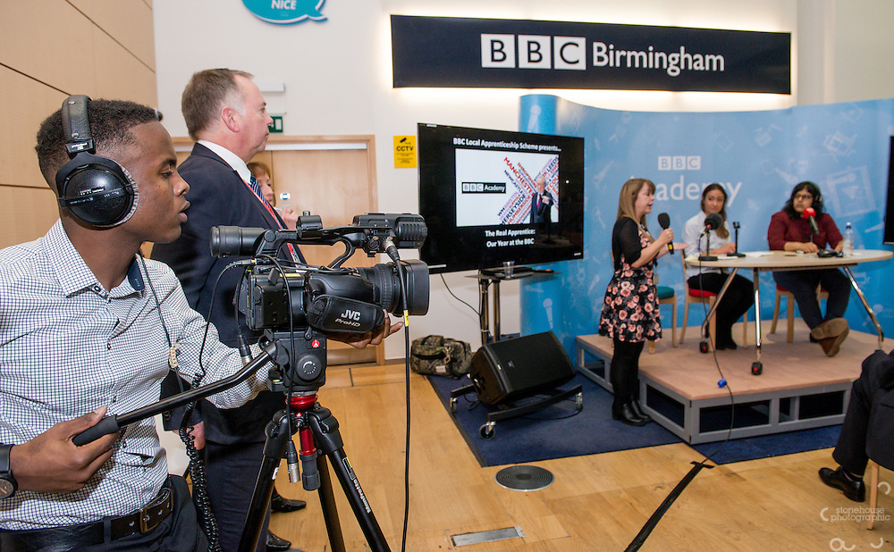 Director General of the BBC Tony Hall visits the BBC Birmingham.