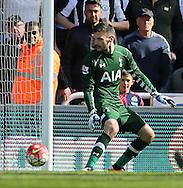 Hugo Lloris of Tottenham Hotspur concedes a 5th during the Barclays Premier League match at St. James's Park, Newcastle<br /> Picture by Simon Moore/Focus Images Ltd 07807 671782<br /> 15/05/2016