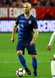 January 27, 2019 - Glendale, AZ, U.S. - GLENDALE, AZ - JANUARY 27: United States of America midfielder Michael Bradley (4) possesses the ball during the international friendly between the United States Men's National Team and Panama on January 27th, 2019 at State Farm Stadium in Glendale, AZ (Photo by Adam Bow/Icon Sportswire) (Credit Image: © Adam Bow/Icon SMI via ZUMA Press)