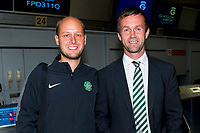 29/07/14   <br /> GLASGOW AIRPORT<br /> Celtic manager Ronny Deila (right) with new coach Haakon Lunov