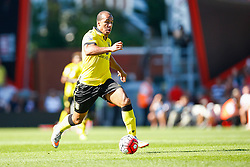 Gabriel Agbonlahor of Aston Villa on the attack - Mandatory by-line: Jason Brown/JMP - Mobile 07966 386802 08/08/2015 - FOOTBALL - Bournemouth, Vitality Stadium - AFC Bournemouth v Aston Villa - Barclays Premier League - Season opener