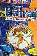 Packaging for Basmati Rice. Natraj rice sack.