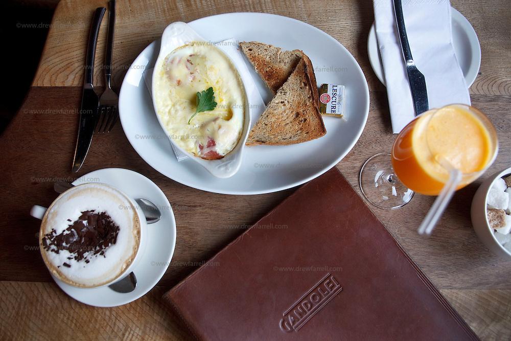 Picture shows : Breakfast Detail...Cafe Gandolfi - Albion Street,Merchant City Area, Glasgow. Travel guide feature...Picture Drew Farrell. tel : 07721-735041......
