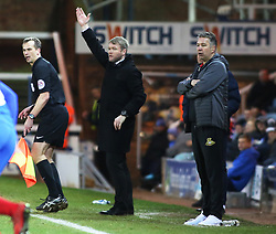 Peterborough United Manager Grant McCann on the touchline alongside Doncaster Rovers manager Darren Ferguson - Mandatory by-line: Joe Dent/JMP - 01/01/2018 - FOOTBALL - ABAX Stadium - Peterborough, England - Peterborough United v Doncaster Rovers - Sky Bet League One
