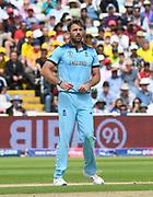 Liam Plunkett of England during the ICC Cricket World Cup 2019 semi final match between Australia and England at Edgbaston, Birmingham, United Kingdom on 11 July 2019.