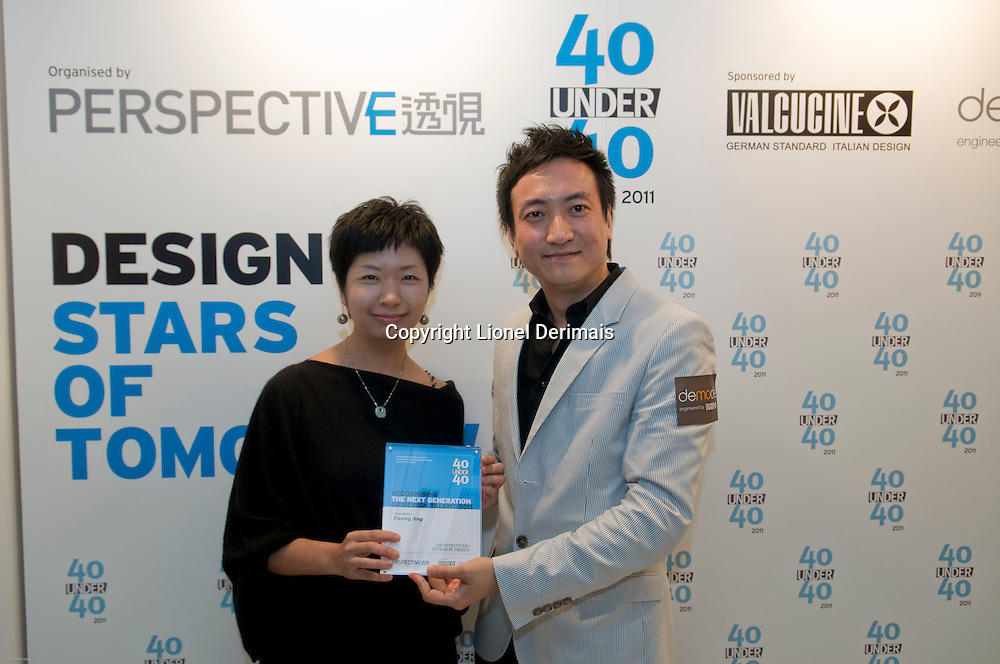 Fanny Ang receives her 40 Under 40 Perspective magazine award on May 5th 2011 in HK.