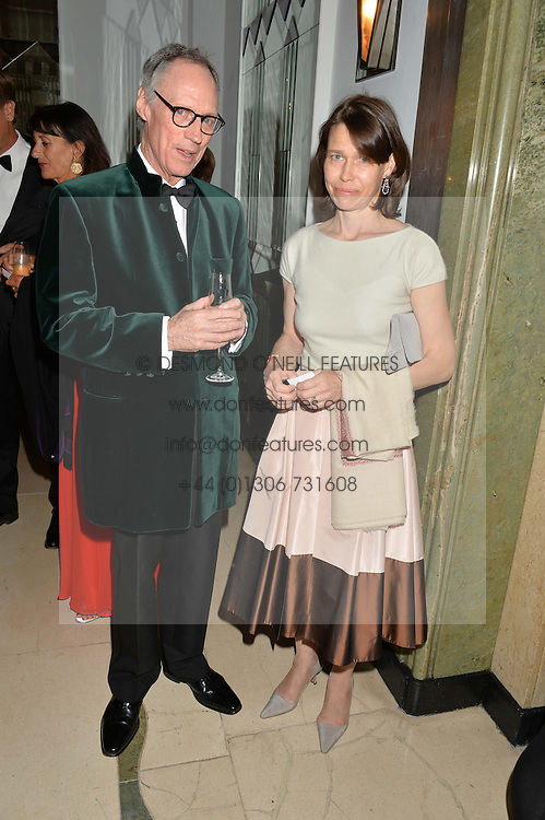 LUKE RITTNER and LADY SARAH CHATTO at a dinner hosted by the Royal Academy of Dance to present the Queen Elizabeth II Award 2014 held at Claridge's, Brook Street, London on 4th September 2014.
