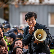 North Korean defector and anti-North activist Park Sang-hak.