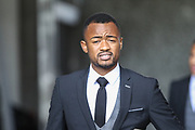 Jordan Ayew of Swansea City arrives at the stadium, before the Premier League match between Swansea City and Watford at the Liberty Stadium, Swansea, Wales on 23 September 2017. Photo by Andrew Lewis.