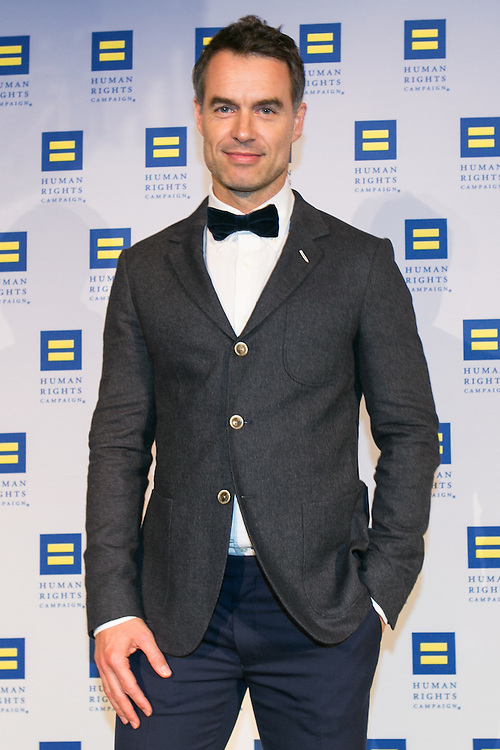 "Murray Barlett, actor starring in HBO's ""Looking"" at the HRC's Greater NY Gala 2014 held at the Waldorf=Astoria in New York City on Saturday, February 8, 2014. (Photo: JeffreyHolmes.com)"