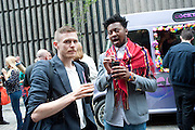 HYNAN KENDALL; DANIEL PETERS;, Dirty Pretty Things - summer party. Lingerie line hosts  party celebrating its new online shop and showcasing the latest collection. The Lingerie Collective, 8 Ganton Street, Soho. London, 15 June 2011<br /> <br />  , -DO NOT ARCHIVE-© Copyright Photograph by Dafydd Jones. 248 Clapham Rd. London SW9 0PZ. Tel 0207 820 0771. www.dafjones.com.