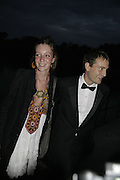 Kate and Ben Goldsmith, Party Belle Epoque hosted by The Royal Parks Foundation and Champagne Perrier Jouet. The Grand Spiegeltent, the Lido Lawns. Hyde Park. London. 14 September 2006. ONE TIME USE ONLY - DO NOT ARCHIVE  © Copyright Photograph by Dafydd Jones 66 Stockwell Park Rd. London SW9 0DA Tel 020 7733 0108 www.dafjones.com