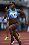 Dina Asher-Smith (GBR) places second in the women's 100m in 11.16 during the IAAF Continental Cup 2018 at Mestkey Stadion in Ostrava, Czech Republic, Saturday, Sept. 8, 2018. (Jiro Mochizuki/Image of Sport)