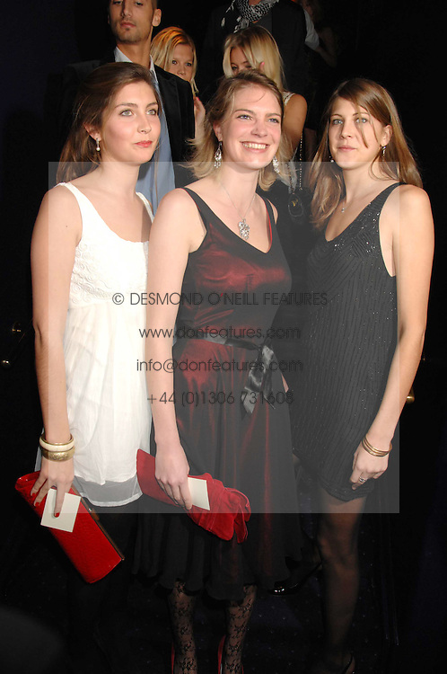 Left to right, sisters PRINCESS AUGUSTA VON PREUSSEN, PRINCESS BEATRICE VON PREUSSEN and PRINCESS FLORENCE VON PREUSSEN at a party to celebrate the publication of the 2007 Tatler Little Black Book held at Tramp, 40 Jermyn Street, London on 7th November 2007.<br />