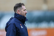 Forest Green Rovers assistant manager, Scott Lindsey during the EFL Sky Bet League 2 match between Forest Green Rovers and Northampton Town at the New Lawn, Forest Green, United Kingdom on 1 January 2019.