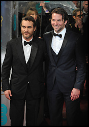 Bradley Cooper (R) arrives at the British Academy Film Awards, The Royal Opera House, Bow Street, London, UK, Sunday February 10, 2013. Photo by Andrew Parsons / i-Images