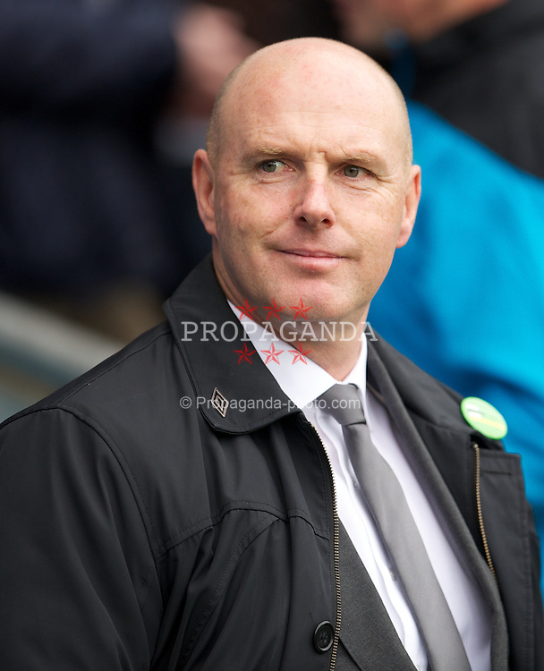 BLACKBURN, ENGLAND - Sunday, October 23, 2011: Blackburn Rovers' manager Steve Kean during the Premiership match against Tottenham Hotspur at Ewood Park. (Pic by David Rawcliffe/Propaganda)