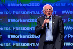 Democratic Presidential hopeful Sen. Bernie Sanders attends the Philadelphia Council AFL-CIO Workers' Presidential Summit, at the Pennsylvania Convention Center in Philadelphia, PA, on September 17, 2019.
