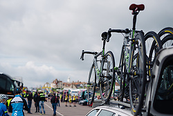 Cylance Pro Cycling prepare for the opening stage at Aviva Women's Tour 2016 - Stage 1. A 138.5 km road race from Southwold to Norwich, UK on June 15th 2016.