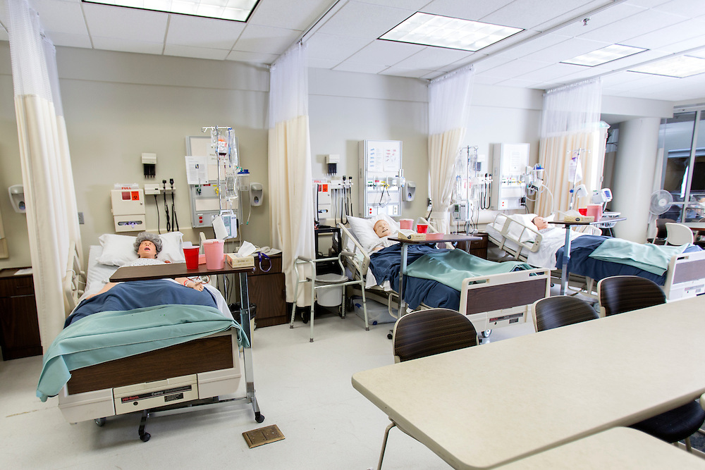 A classroom used for nursing students in Grover Hall at Ohio University on Friday, February 27