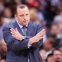 24 November 2013: Chicago Bulls head coach Tom Thibodeau is seen during the Los Angeles Clippers 121-82 victory over the Chicago Bulls at the Staples Center, Los Angeles, California, USA.