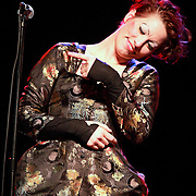 "Amanda Palmer performs on November 9th, 2011 during the ""An Evening with Neil Gaiman & Amanda Palmer""  at the Moore Theatre."