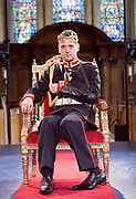 Antic Disposition present<br /> Richard III<br /> by William Shakespeare<br /> at the Temple Church, London, Great Britain <br /> Press photography <br /> 23rd August 2017 <br /> <br /> Toby Manley as Richard III<br />  <br /> <br /> <br /> <br /> <br /> <br /> &nbsp;<br /> Directors<br /> Ben Horslen<br /> John Risebero<br /> Designer<br /> John Risebero<br /> Lighting Designer<br /> Tom Boucher<br /> &nbsp;<br /> Composer<br /> James Burrows<br /> &nbsp;<br /> Fight Director<br /> Bethan Clark&nbsp;of Rc-Annie Ltd.<br /> &nbsp;<br /> Stage Manager<br /> Damien Stanton<br /> &nbsp;<br /> Technical Stage Manager<br /> Angus Chisholm<br /> <br /> Photograph by Elliott Franks <br /> Image licensed to Elliott Franks Photography Services
