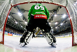 Matija Pintaric (HDD Tilia Olimpija, #69) during ice-hockey match between HDD Tilia Olimpija and EHC Liwest Black Wings Linz at fourth match in Semifinal  of EBEL league, on March 13, 2012 at Hala Tivoli, Ljubljana, Slovenia. (Photo By Matic Klansek Velej / Sportida)