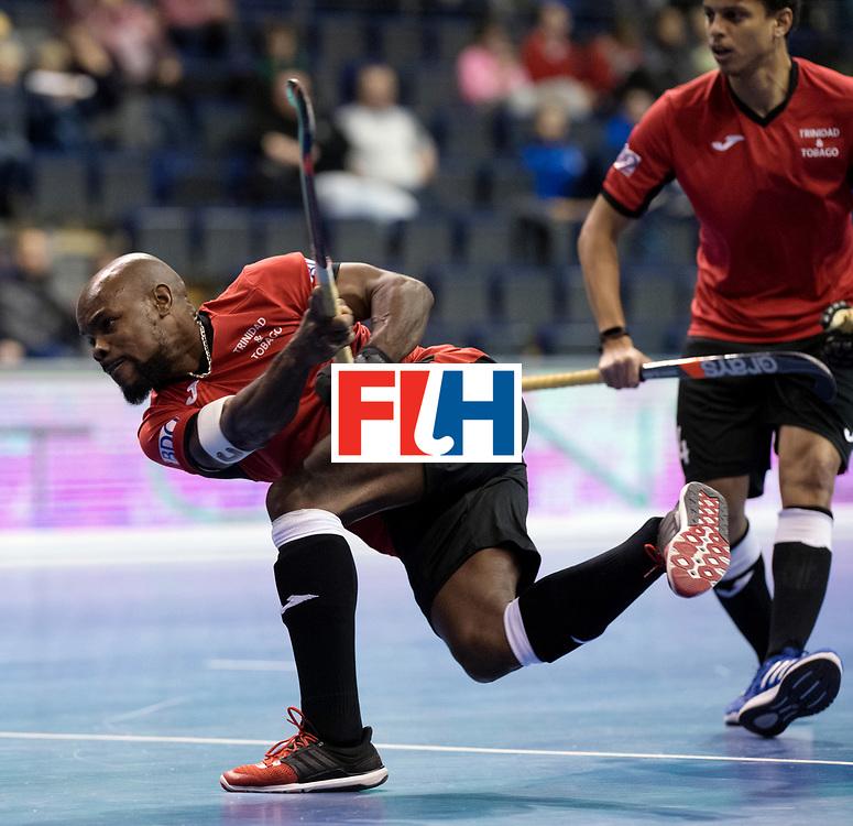 BERLIN - Indoor Hockey World Cup<br /> Men: Poland - Trinidad &amp; Tobago<br /> foto: ECCLES Solomon (C).<br /> WORLDSPORTPICS COPYRIGHT FRANK UIJLENBROEK