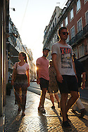 Streets of Bairro Alto on a summer afternoon