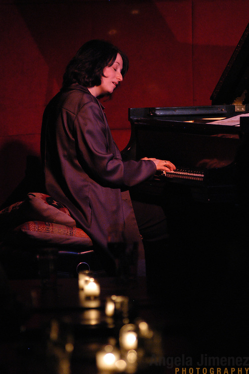 Pianist Renee Rosnes performs with The Drummonds at the Jazz Standard in Manhattan on April 8, 2003.